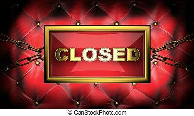 closed  on velvet background