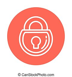 closed padlock, block and flat style icon