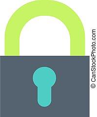 Closed padlock flat vector icon