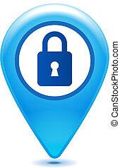 closed padlock pointer icon