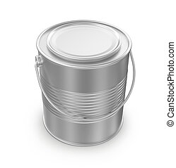 closed paint can on a white background, 3d render