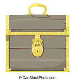 Closed pirate chest