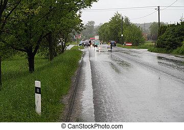 Closed road