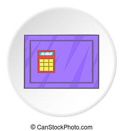 Closed safe icon, cartoon style