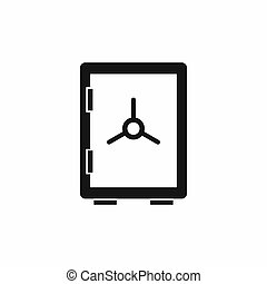 Closed safe icon, simple style
