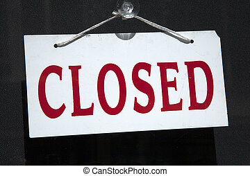 Closed Sign on Shop Window