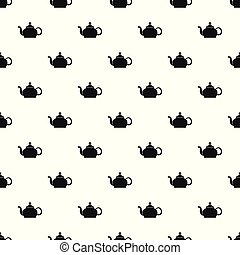 Closed teapot pattern seamless vector