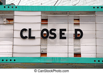 Closed Theater Sign