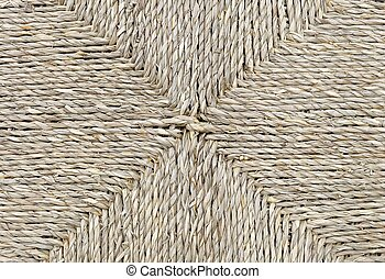Closed Up of Square Texture of Brown Basket Weave Pattern