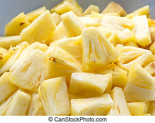 Sliced pineapple - Closed up Sliced pineapple