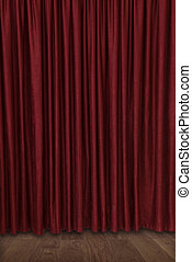 theater curtain - closed velvet theater curtain