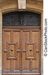 Closed vintage door