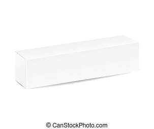 closed white blank box