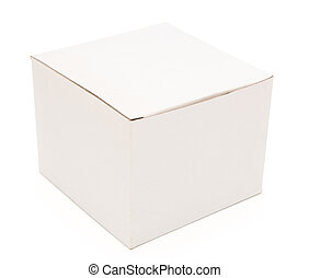 closed white box with clipping path