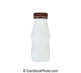 Closed White Plastic Bottle