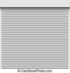 Closed white roller shutter template. - White roller shutter...