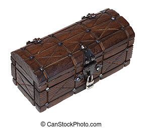 Closed wooden treasure