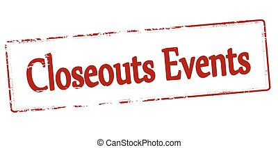 Closeouts events