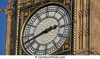 Closer look of the Big Ben in London