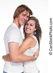 Closer - Two teenager, young and in love in the studio ...