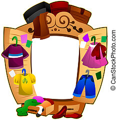 Closet Frame with Clipping Path