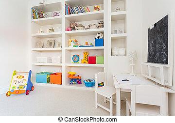 Closet full of toys
