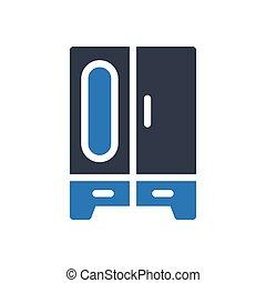 closet  glyph color icon