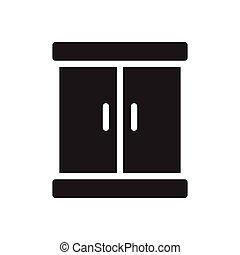 closet  glyph flat icon
