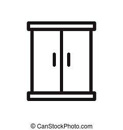 closet  thin line icon