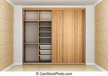 closet. Wardrobe. 3d illustration