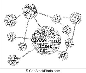ClosetMaid text background word cloud concept