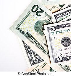 (closeup), アメリカのドル, 積み重ね