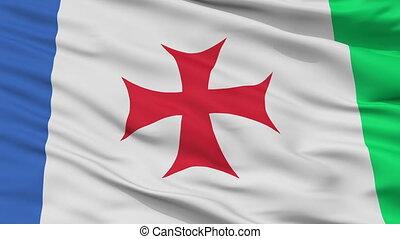 Closeup Abasha Municipality flag, Georgia