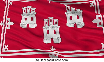 Closeup Aberdeen city flag, UK - Aberdeen closeup flag, city...