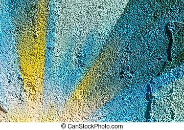 Closeup abstract painted graffiti
