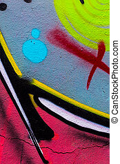 Closeup abstract painted wal