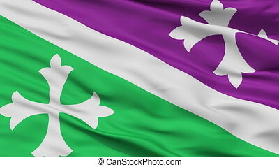 Closeup Adjuntas city flag, Puerto Rico - Adjuntas closeup...