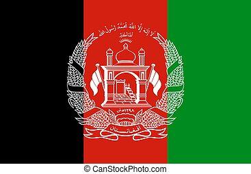 closeup, afganistan, bandera