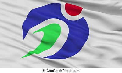 Closeup Agano city flag, prefecture Niigata, Japan - Agano...