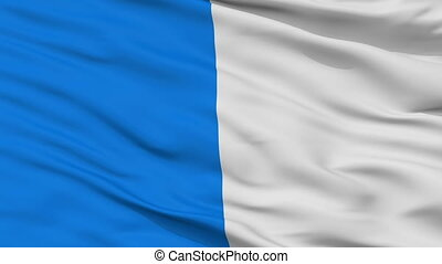 Closeup Ajaccio city flag, France - Ajaccio closeup flag,...
