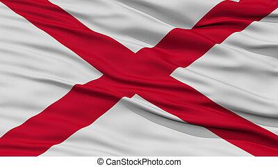 Closeup Alabama Flag, USA state