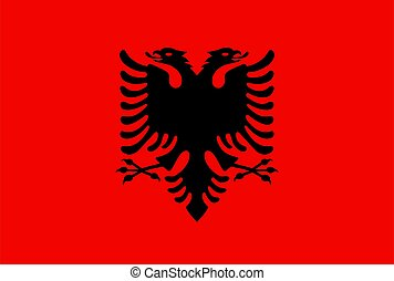 closeup, albania bandera