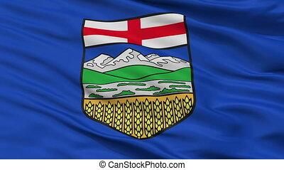 Closeup Alberta city flag, Canada - Alberta closeup flag,...