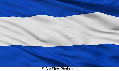 Closeup Almelo outline city flag, Netherlands - Almelo...