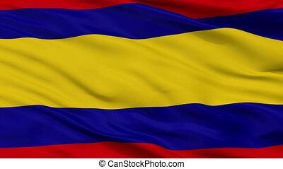 Closeup Alor Setar Kedah city flag, Malaysia - Alor Setar...