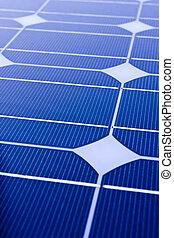 closeup, alternative, themes., panneaux solaires, utile, énergie