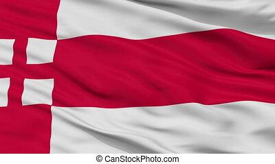 Closeup Amersfoort city flag, Netherlands - Amersfoort...