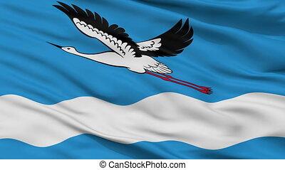 Closeup Amursk city flag, Russia - Amursk closeup flag, city...