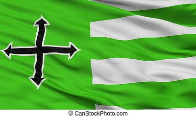 Closeup Anasco city flag, Puerto Rico - Anasco closeup flag,...