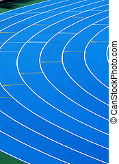 running track - closeup and cutout of a running track